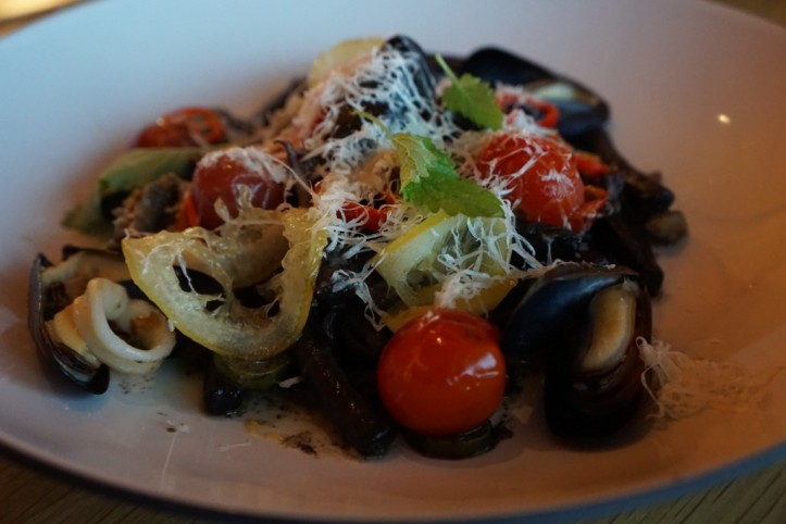 Squid ink cavatelli